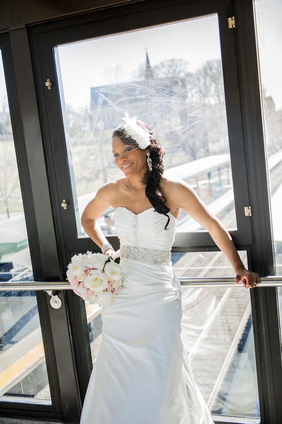 Bride Portrait Hudson Valley New York Train Station