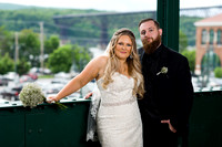 Bride and Groom at Poughkeepsie Train Station