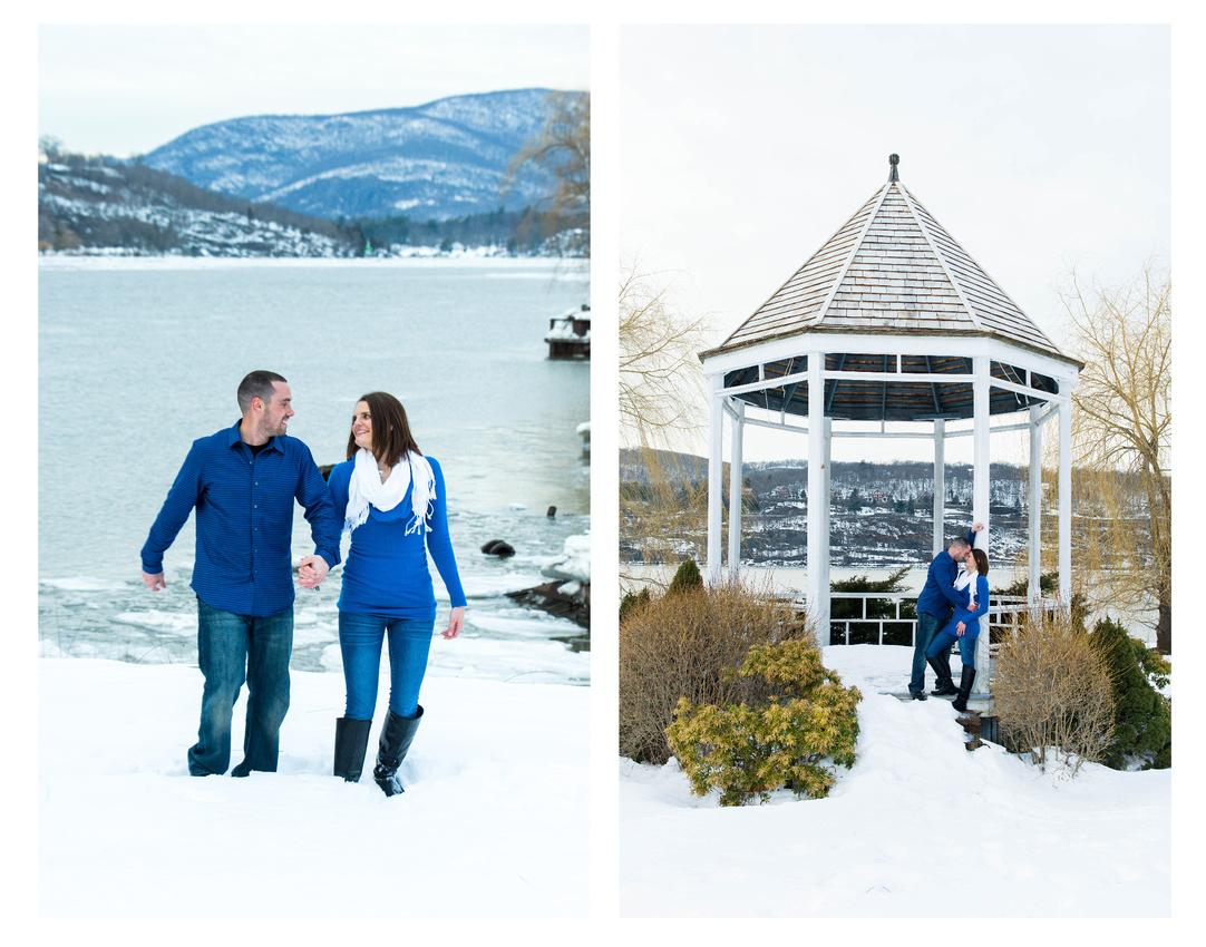 Winter Engagment Portraits - Hudson Valley, NY
