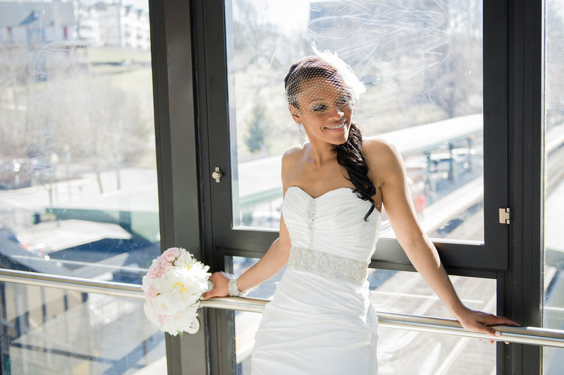 Bride Wedding Photo New York Train Station
